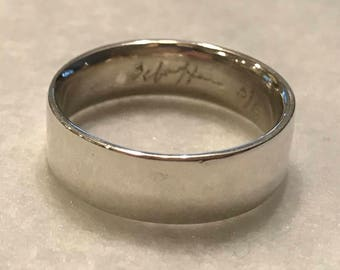Rare Vintage Bill Schiffer sterling silver band ring size 9.5