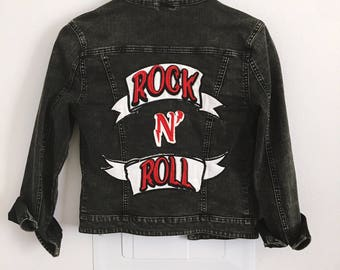 New Year SALE! 10% OFF!Vintage Black Denim Jacket