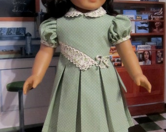 """1930's Spring Frock - Clothes Made to Fit 18""""  American Girl Doll, An Original  KeeperDollyDuds Design"""