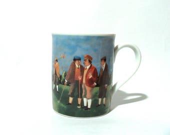 Vintage 1990s 'A Perfect Putt' Porcelain Eschenbach Germany Coffee Tea Mug/Gift/Golf Glory