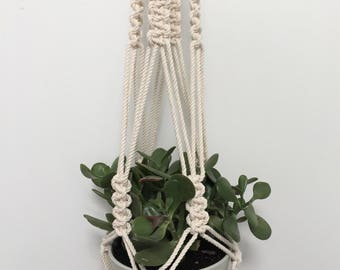Macrame Plant Hanger, Plant Hanger, Hanging Planter, Macrame Planter, Wall Planter, Pot Hanger, Macrame Pot Holder, Hanging Wall Planter