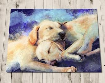 Labrador Gifts - Cute Dog - Labrador Art - Labrador Painting Print - Labrador Print - Puppies - Puppy Art - Labrador Wall Art - Dog Nap
