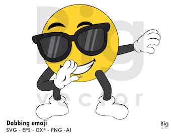 Emoji dab figure EPS SVG PNG Ai dxf cuttable and printable files