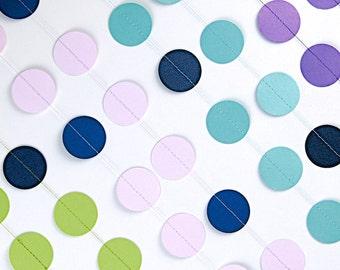 Papier Girlande in Lagune und Marineblau, 20 Farben wählen, doppelseitig, Bridal Dusche, Baby Shower, Partydekoration, Geburtstag Dekoration
