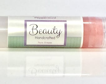 Natural Lip Balm Tube / Lip Gloss / Gift / Party Favor
