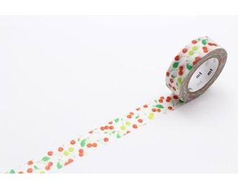 208870 mt ex Washi Masking Tape deco tape white cherry fruit