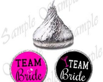 Team Bride Bachelorette Favors Candy Sticker Labels, Printable Labels, Hershey Kissses Label, Team Bride Favors (0116)