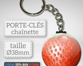 Key Fruit Strawberry idea gift Badge 38 mm