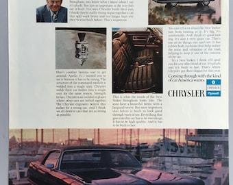 1972 Chrysler New Yorker Print Ad