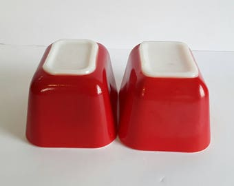 Pyrex Primary Red Refrigerator Dishes #501