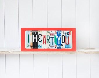 Valentine's Day gift, Valentine's gift for him, long distance Valentine's gift, engagement gift, Valentine's gift for her, I heart you sign