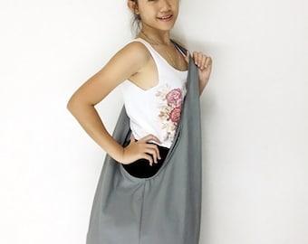 Handbags Canvas Bag Shoulder bag Sling bag Hobo bag Boho  bag Messenger bag Tote bag Crossbody Purse  Light Gray