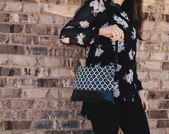 Black and White Crossbody Purse