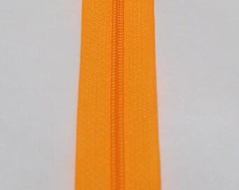 Orange neon zipper 25 cm spiral