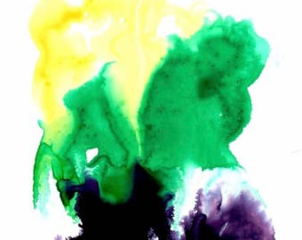 Ink Drop Painting