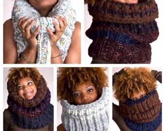 Custom Design Knit Scarf Cowl - 3rd Tier