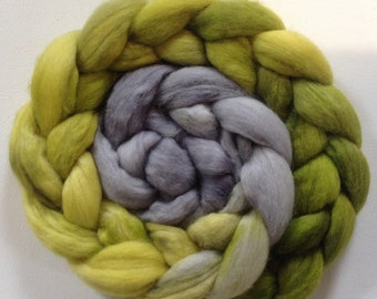 Hand Dyed gradient roving 3.25ozs Baby Alpaca Ready to ship