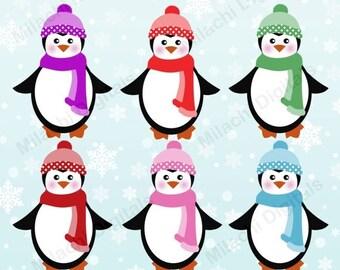 penguin clipart etsy rh etsy com winter holiday clipart black and white winter holiday clipart black and white