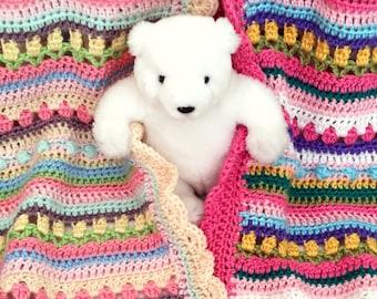 Crochet Baby Blanket Pattern - CROCHET PATTERN - Confetti - by Deborah O'Leary Patterns