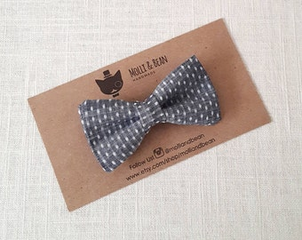 Boys Gray BowTie, Toddler Gray BowTie, Baby Gray BowTie, Gray Dots Bow Tie, Men's Gray Bow Tie, Ring Bearer BowTie, Easter BowTie