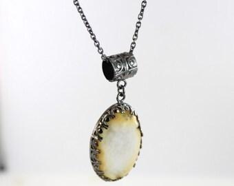 Agate necklace - Druzy necklace - Bohemian necklace - Zen necklace - Handmade
