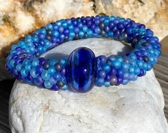 Crockett Cove bead crochet bracelet
