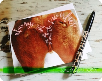Always Take Time to smell the Swirlies Dachshund Tushie Card