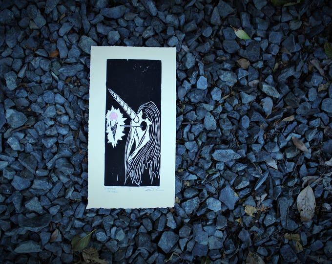 I Wanted Ice-Cream, Sorcerer Unicorn Skull Print