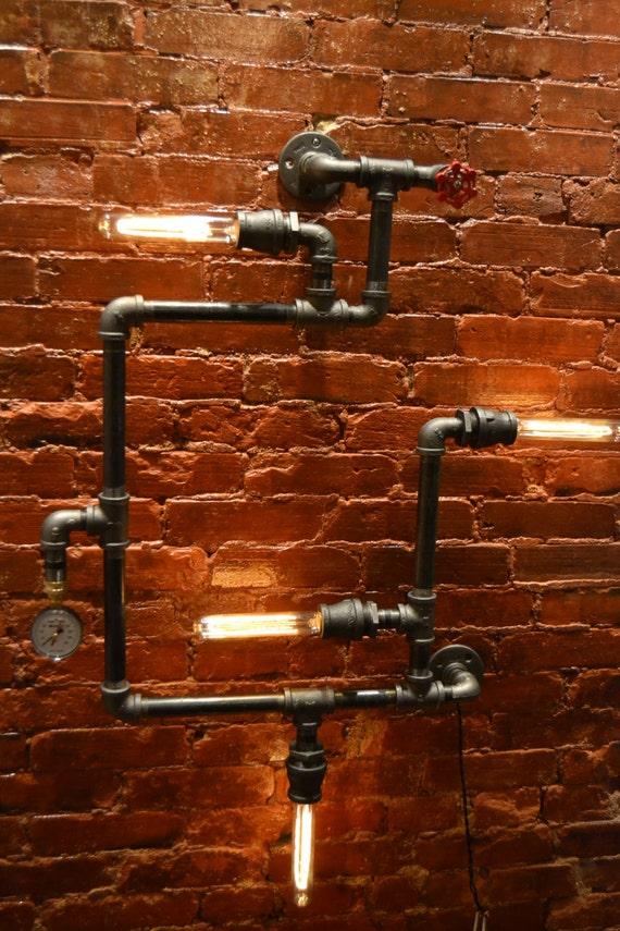 Pipe Light Fixture Bathroom