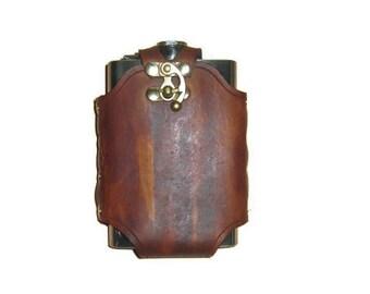 Custom Leather Flask Wrap