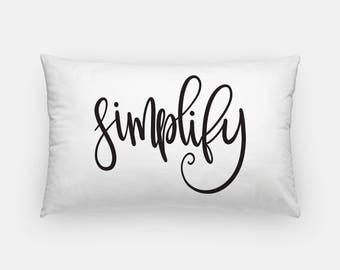 CUSTOM - Handlettered Word of the Year - Lumbar Pillow