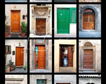 Italian Doors | Photography | Digital Download | Collage | Wall Art | Doors