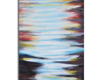 """Hand painted 48"""" x 32"""" Gallery wrapped and stretched Acrylic Painting, canvas, abstract, gallery art, large painting"""