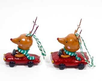 Rudolph Racer Ornament- Pick Your Favorite
