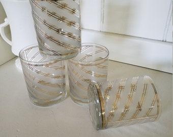 Set of Four Culver Glasses / Barware