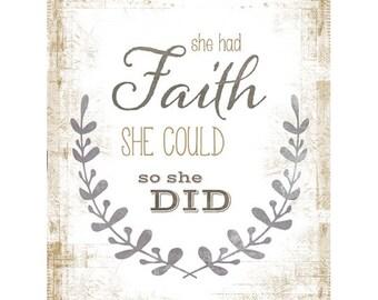 MA2193 - She Had Faith - 12 x 16