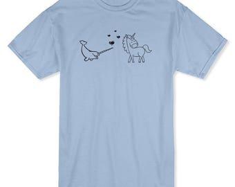 Horn Love Men's Light Blue T-shirt