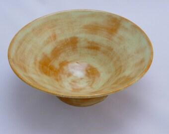 Cream & Orange Bowl -  Handmade Pottery Bowl