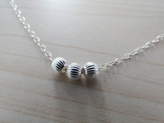 Little Silver Beads Necklace - Sterling Silver