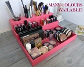 Makeup organizer - cosmetic storage - lipstick holder - bathroom storage - rangement maquillage - Many colors available - watermelon pink