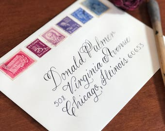 Custom Calligraphy Hand Written Envelope for Weddings and Special Occasions