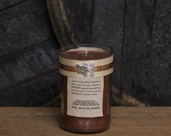 Basil Hayden Whiskey Candle / Bourbon Bottle  Soy Candle / Whiskey Gift, Soy Wax Bourbon Gift/Man Candle Bourbon Candle / Father's Day Gift
