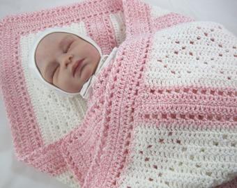 Baby Afghan, Crochet Baby Blanket, Baby Girl Blanket, Newborn Baby Afghan, Baby Shower Gift, Christmas Gift