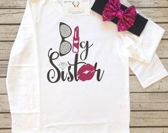 Girls Clothing Big Sister Shirts Big Sister Sister Shirts Sibling Shirts Big Sister Tops Big Sister