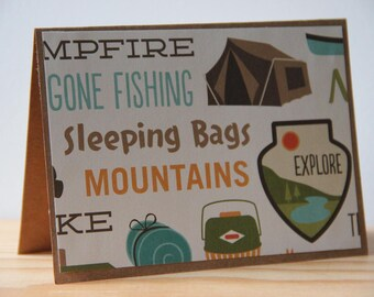 12 Camping-Themed Note Cards. Blank Camping Cards. Camping Party Invitations. Camping Thank You Cards. Camping Gift. Letters from Camp