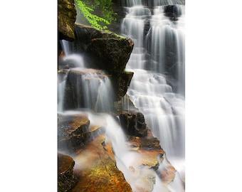 Waterfall Photography Soco Falls, Cherokee, NC - Fine art photograph - Blue Ridge Parkway, Spring, Appalachian Mountains