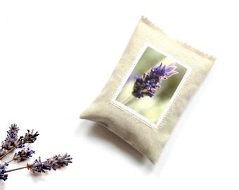 Lavender sachet bag drawer freshener, natural lavender sachet linen, lavender pillow