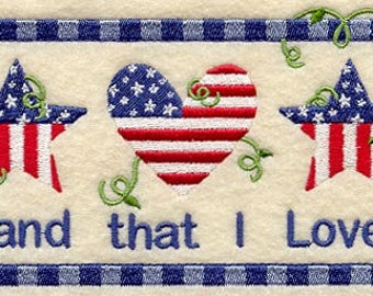 PATRIOTIC EMBROIDERY  on Men's Tee or Sweat by Rosemary