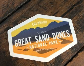 Great Sand Dunes National Park, Vinyl Sticker, Colorado, National Park Sticker