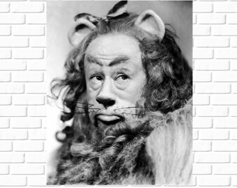 Wizard of Oz - Cowardly Lion - Bert Lahr - Rare - Photo - Movie - Vintage - Behind the Scenes - Still - Celebrity - Hollywood - Star - 1939
